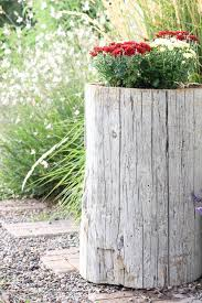 tree stump planters how to make a log planter the wood grain cottage