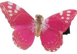 butterfly hair clip traveling butterflies handmade pink butterfly hair clip