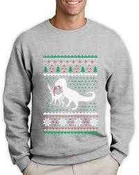sweater t rex vs reindeer sweatshirt
