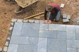 How To Build A Cement Patio Lay A Garden Patio In Pictures Gardenersworld Com