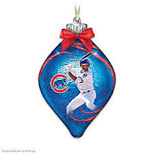 chicago cubs mlb illuminated ornament collection