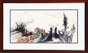 nightmare before halloween original concept artwork for halloween town from the nightmare