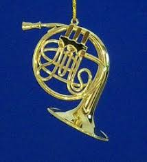 musical muse horn tree ornaments by ed sussman set of 4