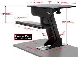 Computer Workstation Desk Adjustable Height Gas Spring Easy Lift Standing Desk Sit Stand Up