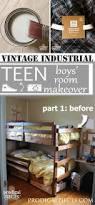 Before U0026 After Tween Boy Bedroom Makeover Reveal by Boys Bedroom Makeover Vintage Industrial Teen Prodigal Pieces