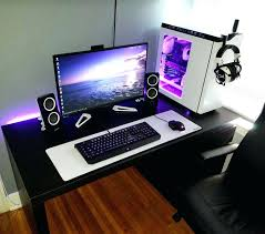 Gamer Computer Desks Gaming Computer Desk Setup Best Desks For Led Monitors Three