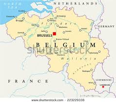 map of begium belgium political map capital brussels national stock vector