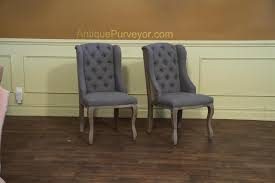 Tufted Dining Chair Deconstructed Dining Chair With A Burlap Back