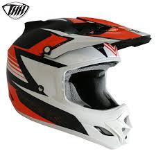 thh motocross helmet thh tx23 15 velocity helmet black orange rebound racing