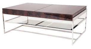 stunning rectangular glass coffee table chrome frame oval thippo