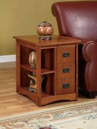 Wood End Tables Oak End Tables With Storage Foter