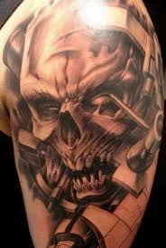 collection of 25 horror skull on arm