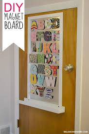 Big Girl Room Doors  DIY Magnet Board Balancing Home With Megan - Magnetic board for kids room