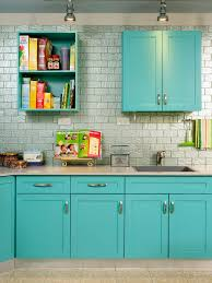 Turquoise Kitchen Cabinets Houzz - Turquoise kitchen cabinets