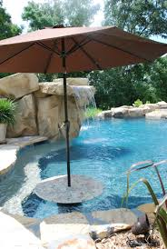 bar stools and table in a small pool great for gatherings where