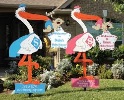 stork baby shower decorations stork yard signs flamingos 2 go