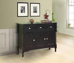 black or dark cherry wood sideboard buffet display console table