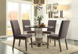 Cindy Crawford Dining Room Sets Homelegance Anna Claire Round Dining Set S1 Driftwood Zinc D5428