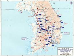 World Map 1950 South Korea Map Of Early Hostilities 1950