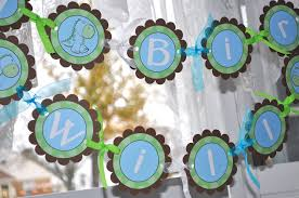 Baby Blue And Brown Baby Shower Decorations Dinosaur Birthday Banner Boys Birthday Party Decorations Brown