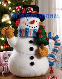 teapot snowman 3d bucilla felt christmas home decor kit 86163