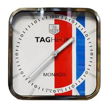 tag heuer steve mcqueen monaco wall clock in white