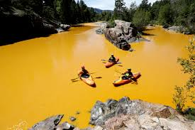 Climate Change Is Shrinking The Colorado River Source Colorado As River Runs Orange Mining Industry Attacks Tool To Prevent