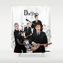 Doctor Who Shower Curtain The Doctor Who Renunion Band Shower Curtain Pointsalestore