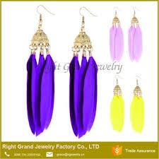 feather earring fashion earring designs new model earrings cheap