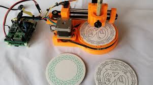 these tiny drawbots put unique doodles on coasters make