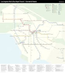 Chicago Elevated Train Map by Mapping The Future Of L A Transit Urbanize La