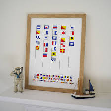 Us Navy Signal Flags Personalised Naval Signal Flags Print By Glyn West Design