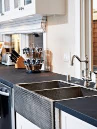 sinks metallic and stone tile backsplash metallic three holes