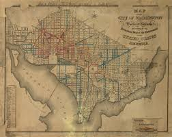 Crestwood Map 1872 Street Paving Map Of Washington Ghosts Of Dc