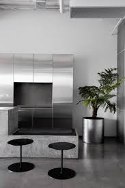 concrete and terrazzo furniture feature in ritz u0026ghougassian u0027s