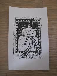 snowman print block printing snowman printing and