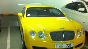 bentley yellow crazy yellow bentley continental gt in dubai youtube