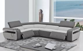 Modern Reclining Sectional Sofas by Sofas Center White Leather Seater Recliner Sofa Modern Sofas