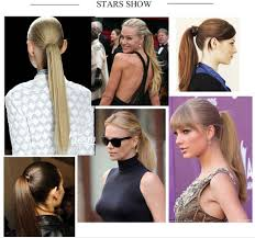layered extensions layered 24 60cm pony clip on hair
