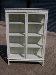 painted display cabinet shabby chic glazed cabinet bookcase white