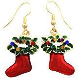 christmas earrings happy colorful christmas tree earrings hoop dangle