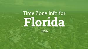 Florida Time Zone Map by Time Zones In Florida United States