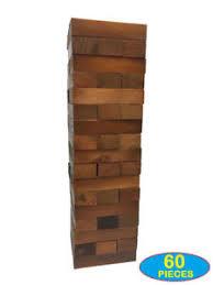 large wooden pieces jenga block big set large jumbo xl oversized wooden