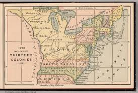 Blank 13 Colonies Map 1776 Map Of The Thirteen Colonies David Rumsey Historical Map