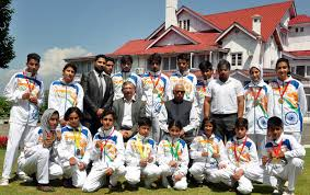 moo do governor greets medal winners of south asian tong il moo do