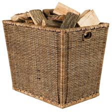 burley log rattan storage basket oka