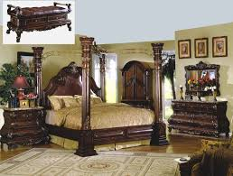Traditional Cherry Bedroom Furniture - traditional canopy bed marble bedroom set shop factory direct