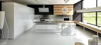 cuisine bois gris moderne cuisine blanc et bois laque blanche charming 7 laquey mo la