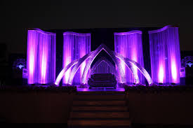 stage backdrops the purple themed mirror worked wedding reception stage www