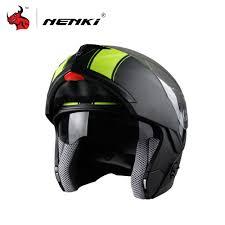 thh motocross helmet nenki motorcycle helmet flip up full face racing helmets double